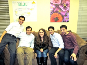 With the Maccabeats after the interview